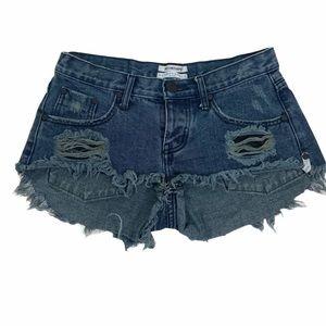 ONE TEASPOON bonitas dark wash Sz 25  Jean Shorts